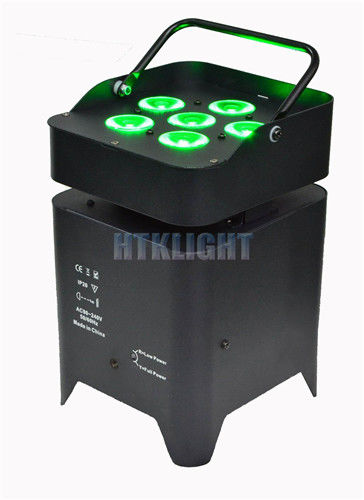 4in1 RGBW Battery Powered DMX Lights 6*10W For Stage Lighting Equipment