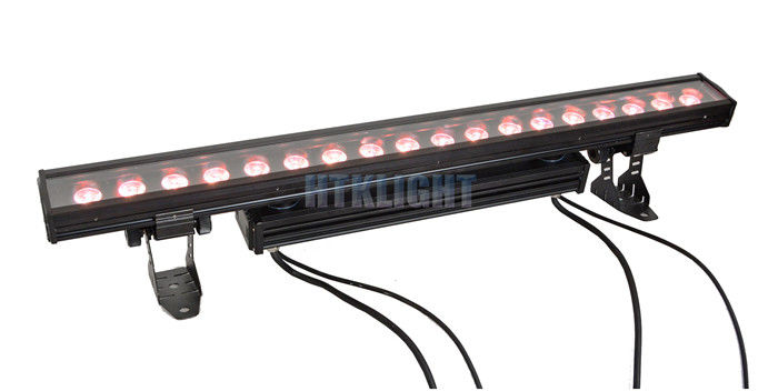 Exterior Linear RGBW Bar LED Stage Wash Lights 18 X 10W For Effect , Building